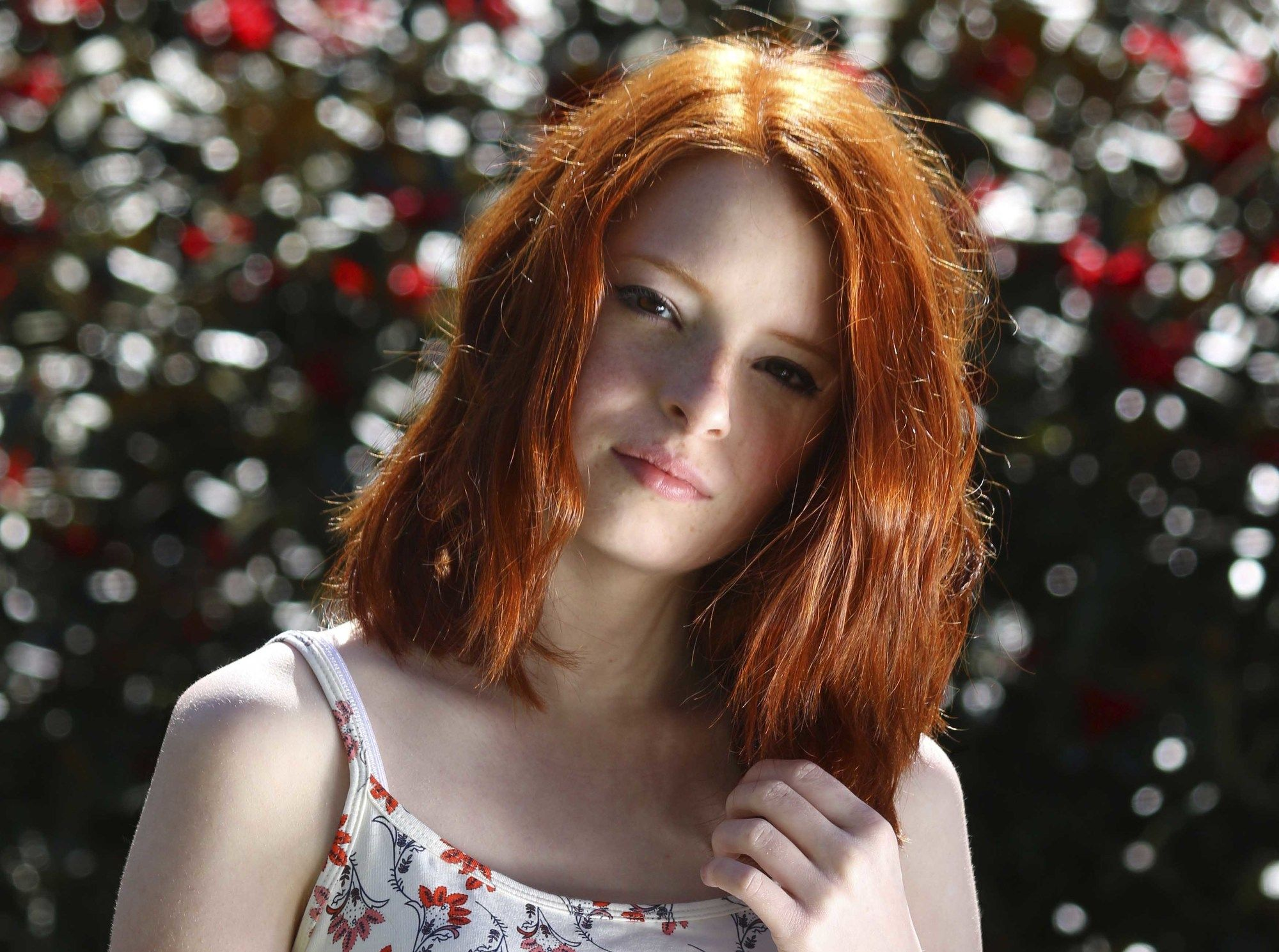 oil treatment on red hair