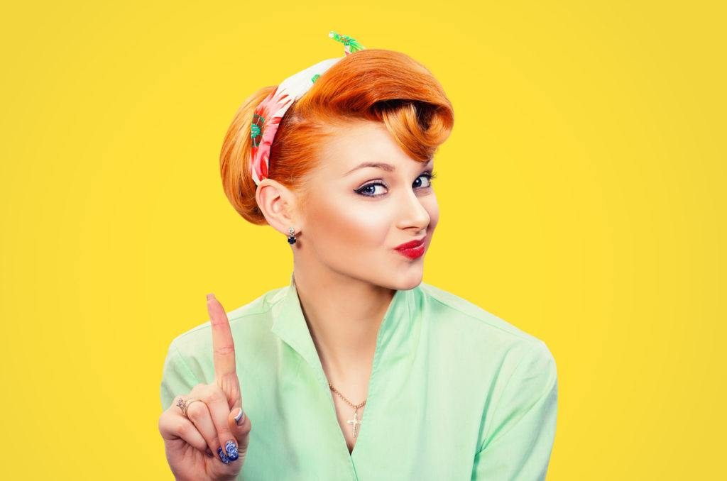 pin-up style for long hair: retro pin up