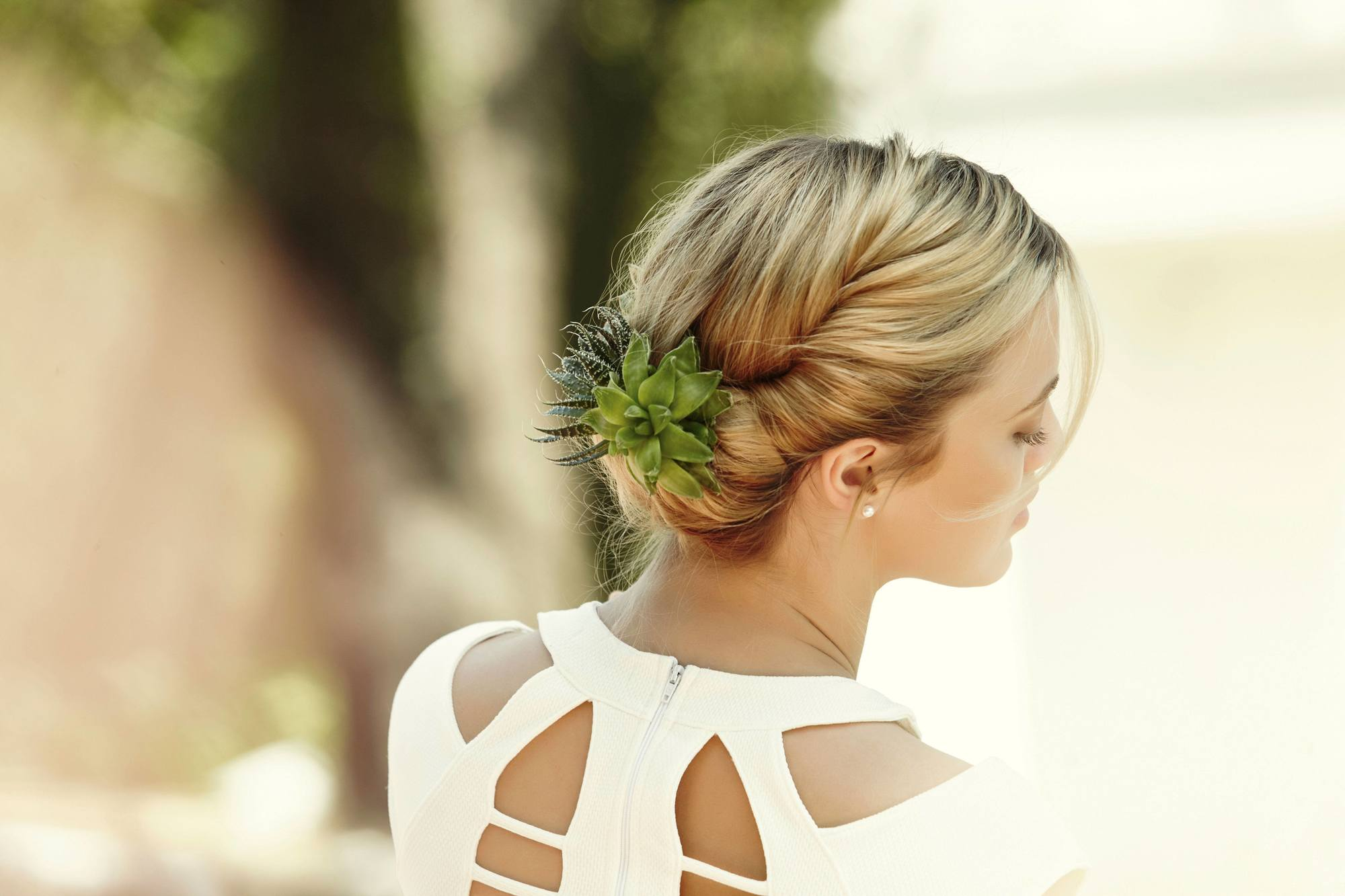 Updo Hairstyles For Work Looks For Any Hair Type - Croissant hairstyle bun