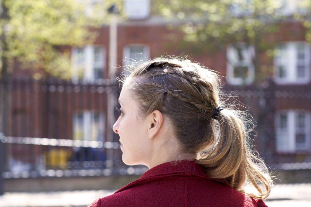 After-party hairstyles include super easy plaited ponytails.