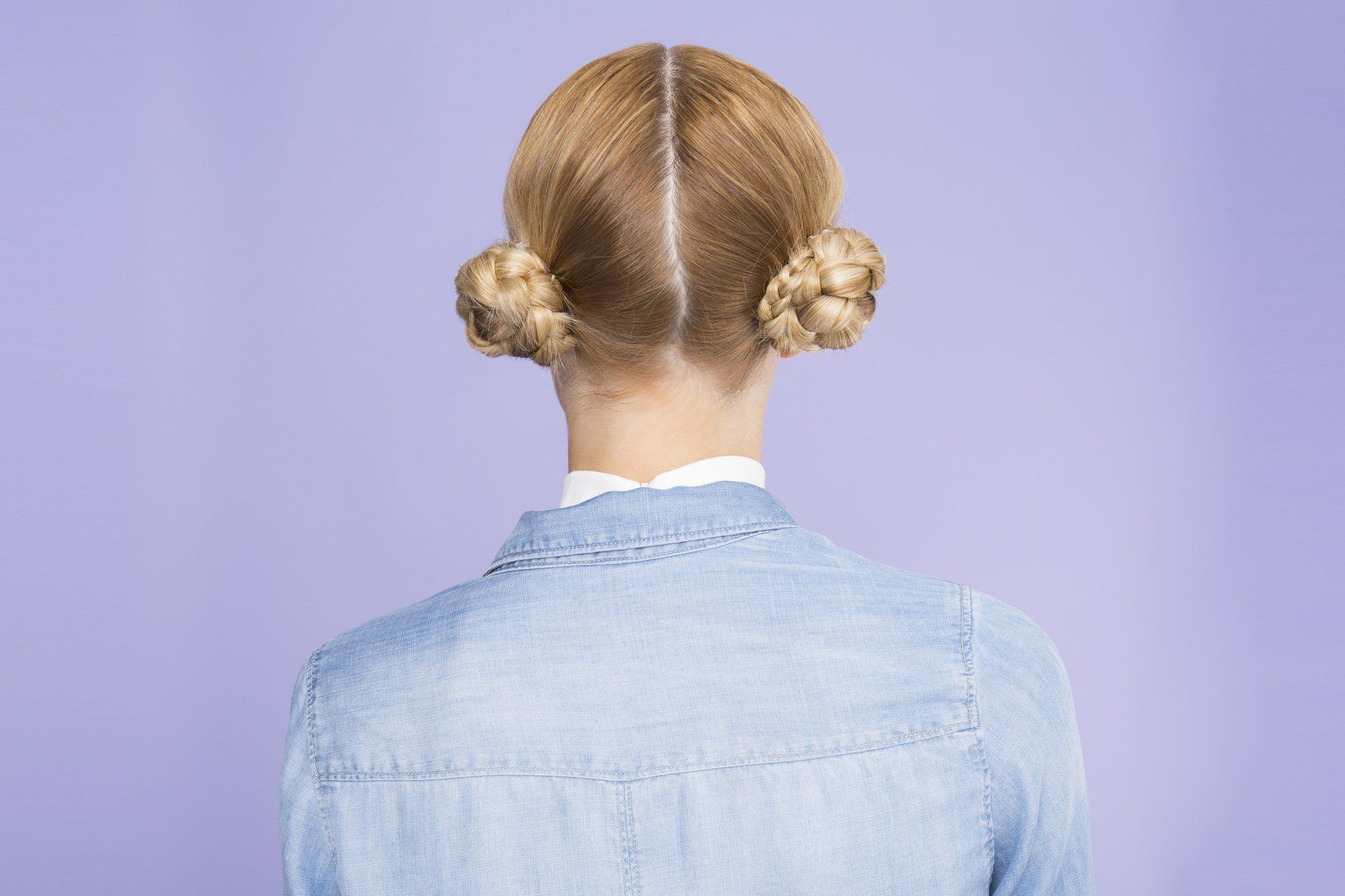 After-party hairstyles include quirky space buns.