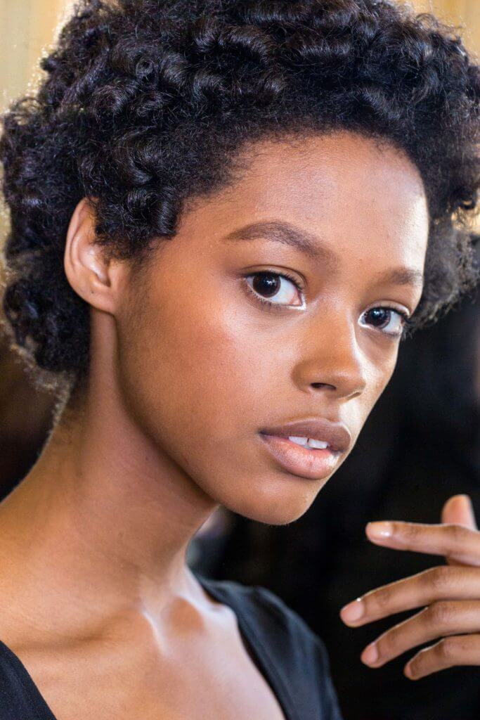 androgynous haircuts such as the afro