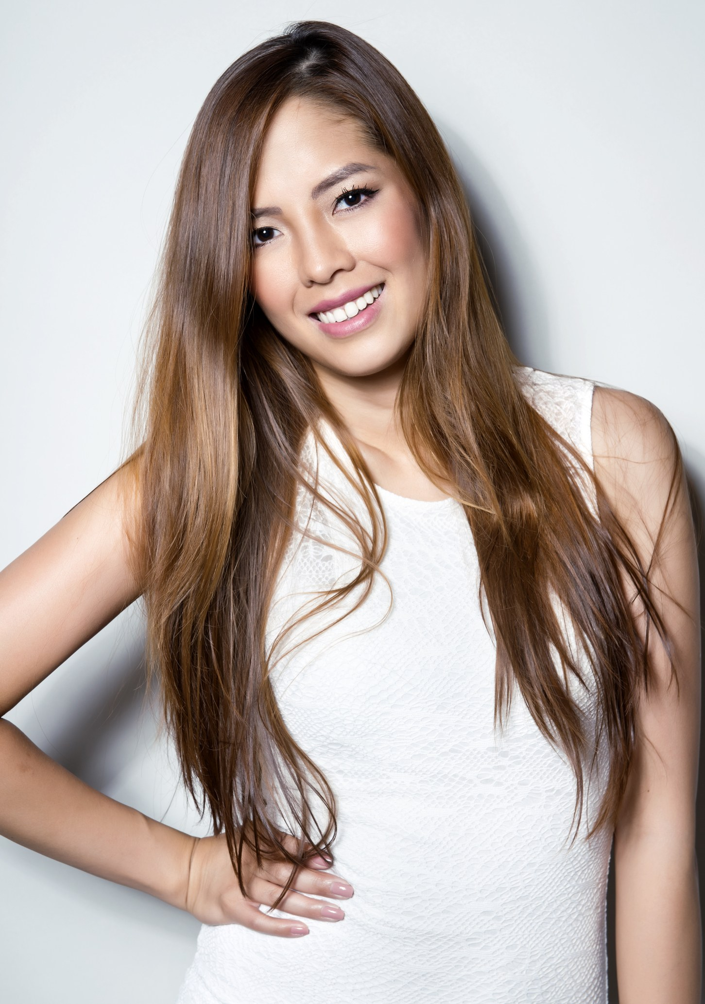 asian hair color ideas caramel highlights