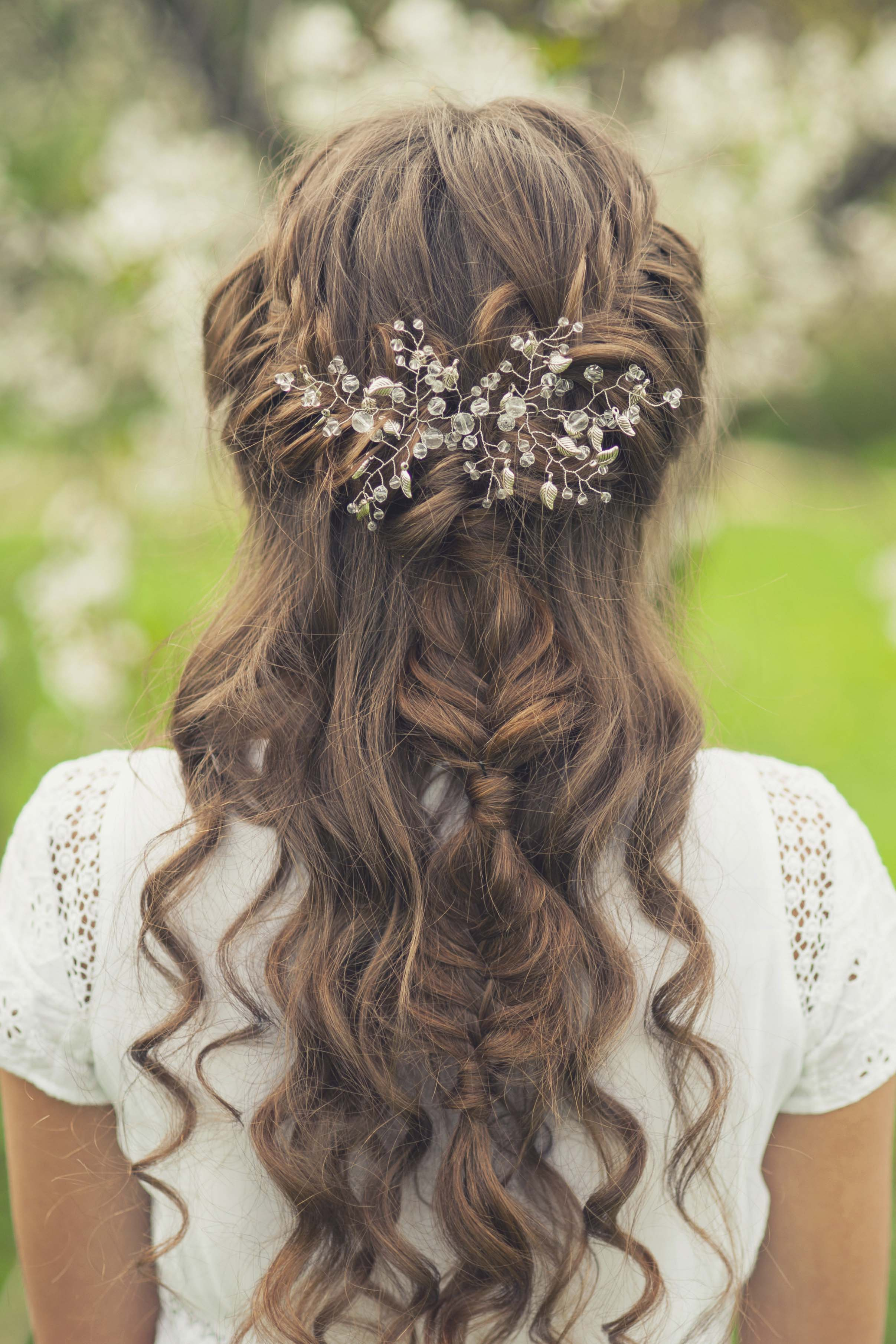 best bridal hair fishtail braid