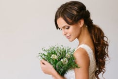 best bridal hair ideas with a low ponytail