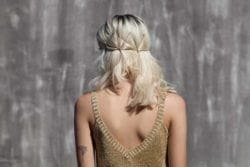 bobby pins can be used to create a fun pattern that sits at the back of your head.