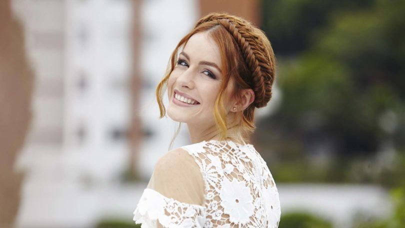 fishtail braid halo hairstyles on red hair