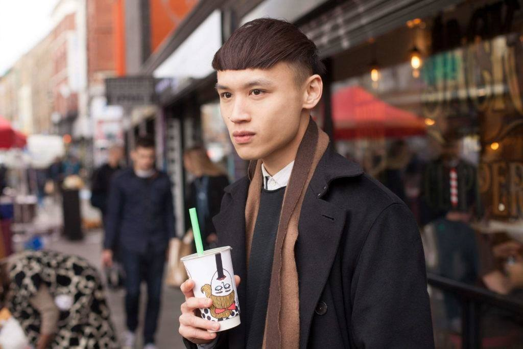 high fade haircut: bowl cut