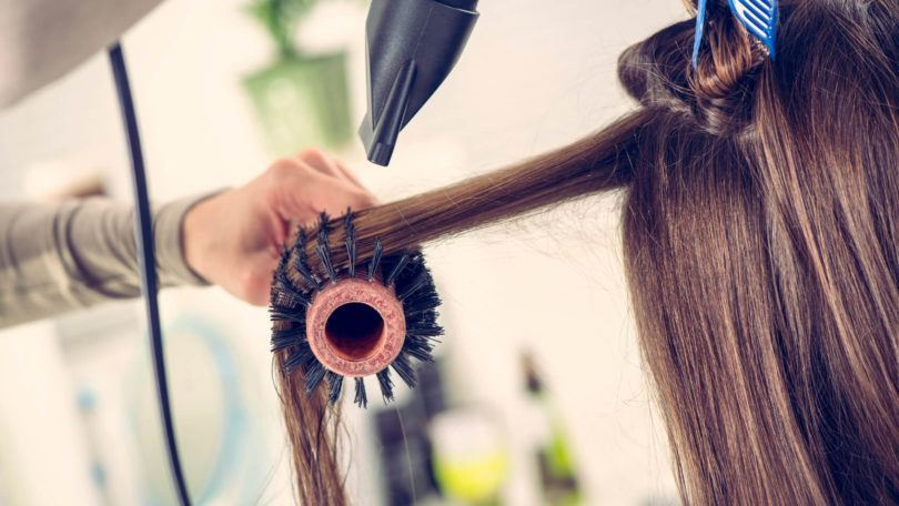 how to blow dry short hair with a fat brush