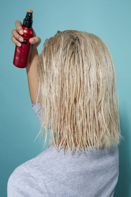 how to blow dry hair short heat protect