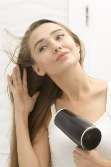 how to blow out hair at home bathroom