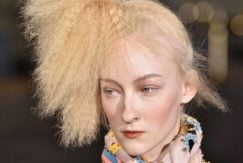 how to use a hair crimper to get a crimped ponytail.