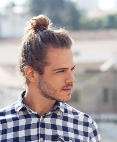 man bun hair for dudes with a high bun