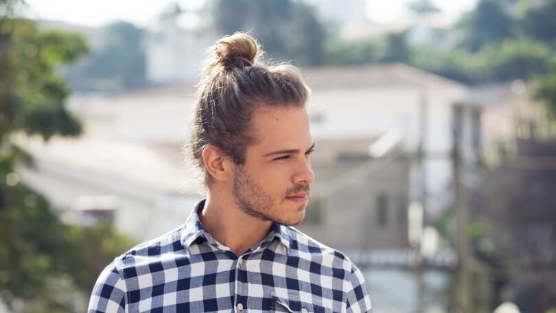 man bun hair for dudes with a high bun