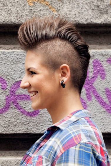 how to create straight mohawk hairstyles for women