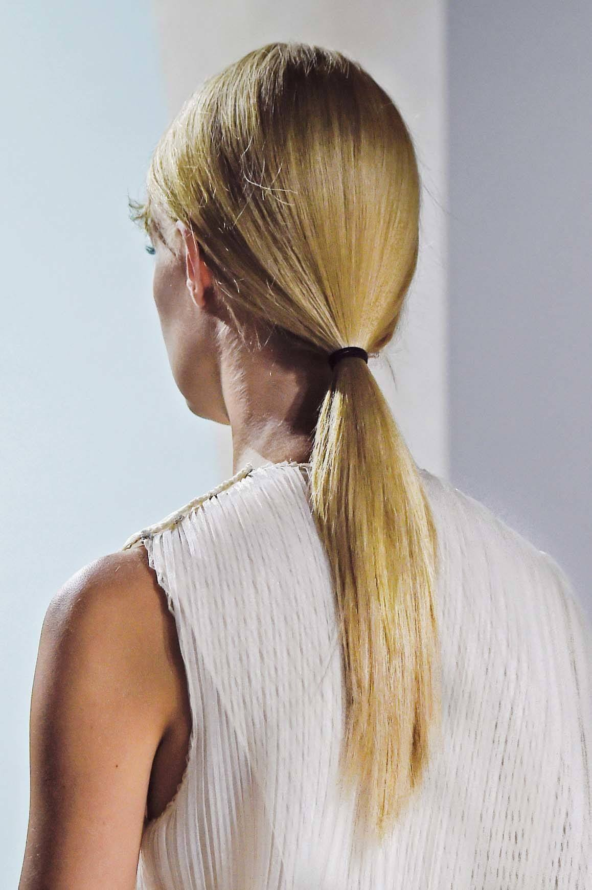 New Hair Trends include low effortless ponytails.