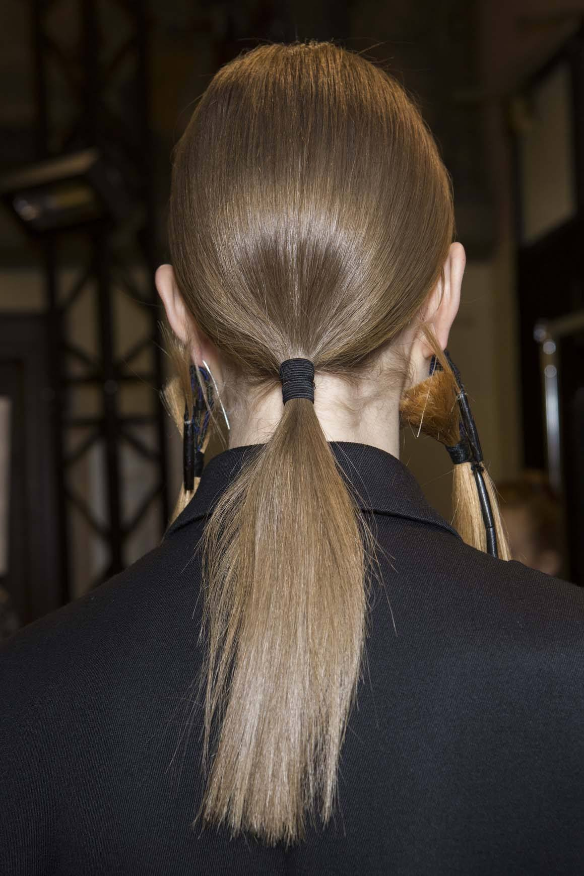 silky low ponytails are new hairstyles for spring