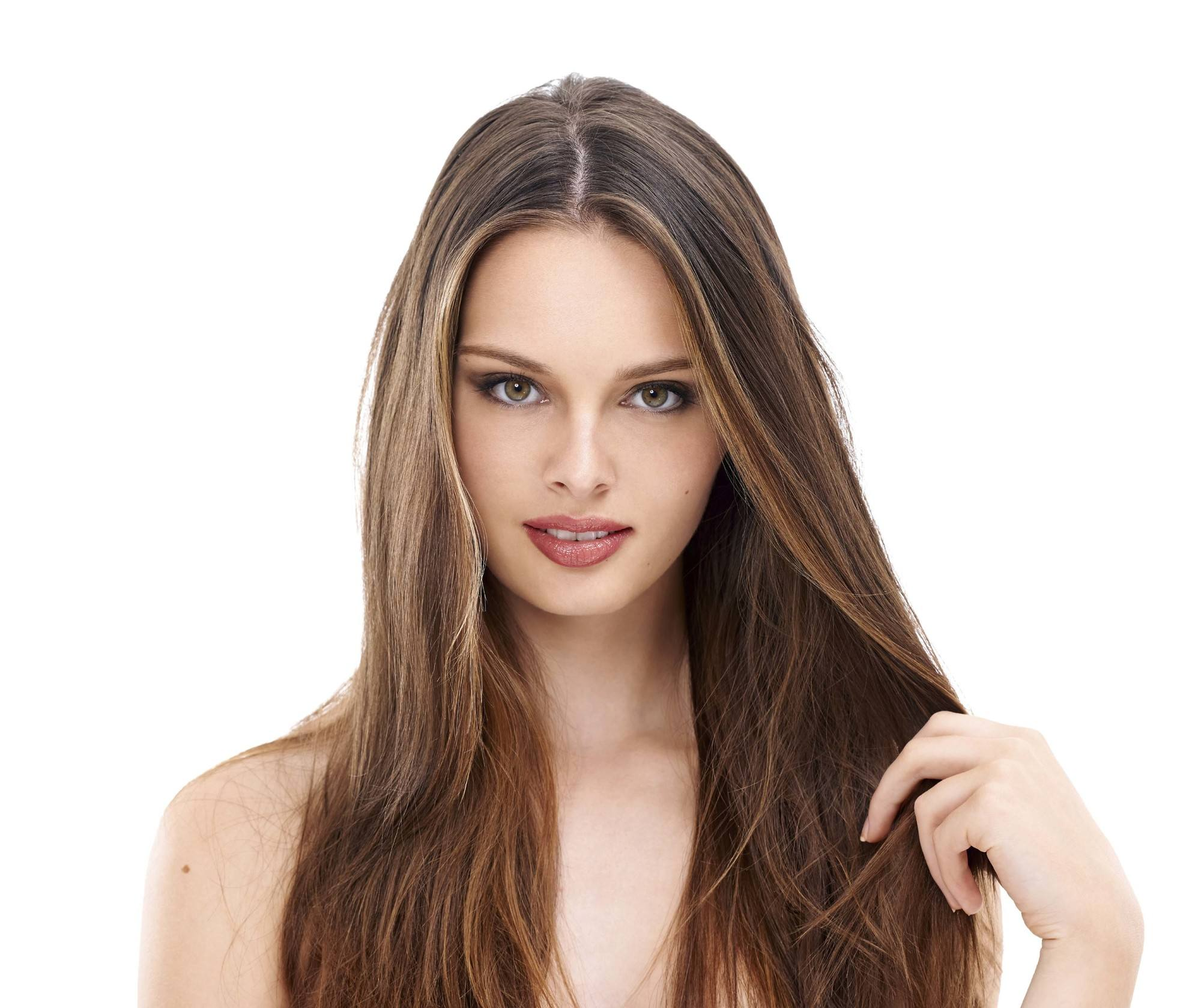 different partial highlights for brown hair: skinny highlights