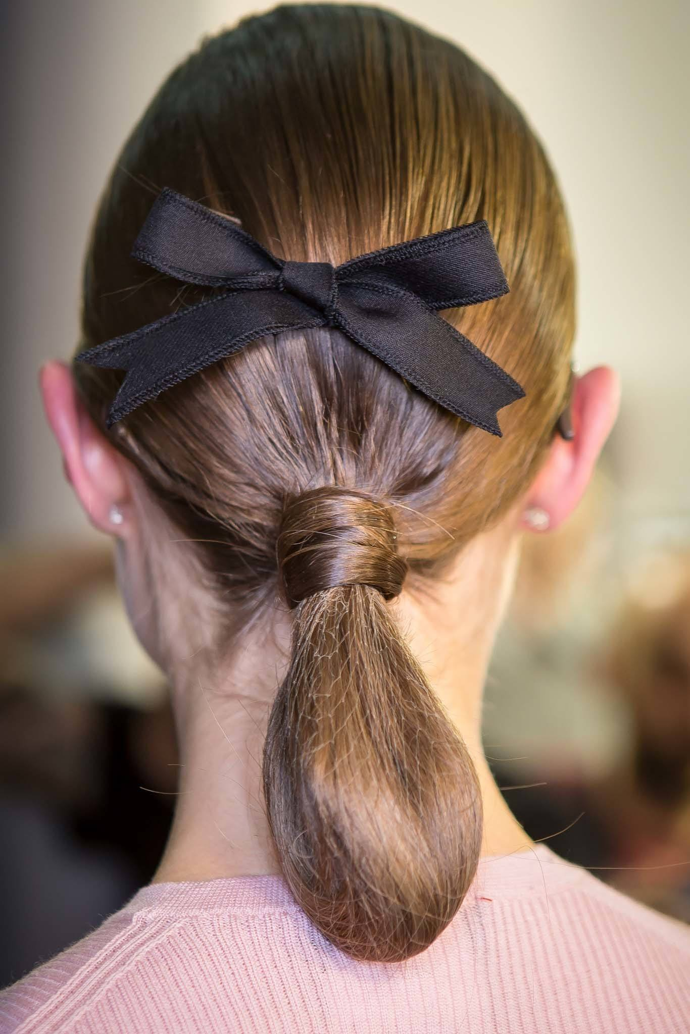 ribbon hair accessory trend with a hair net
