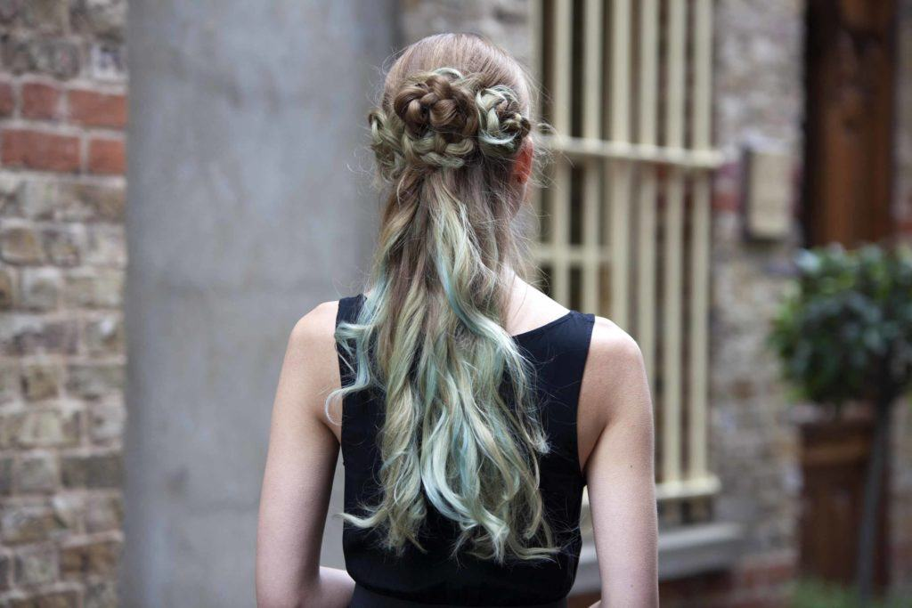 hair streaks sea green ombre
