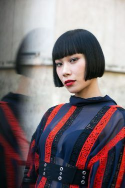short hair ideas black bob with bangs
