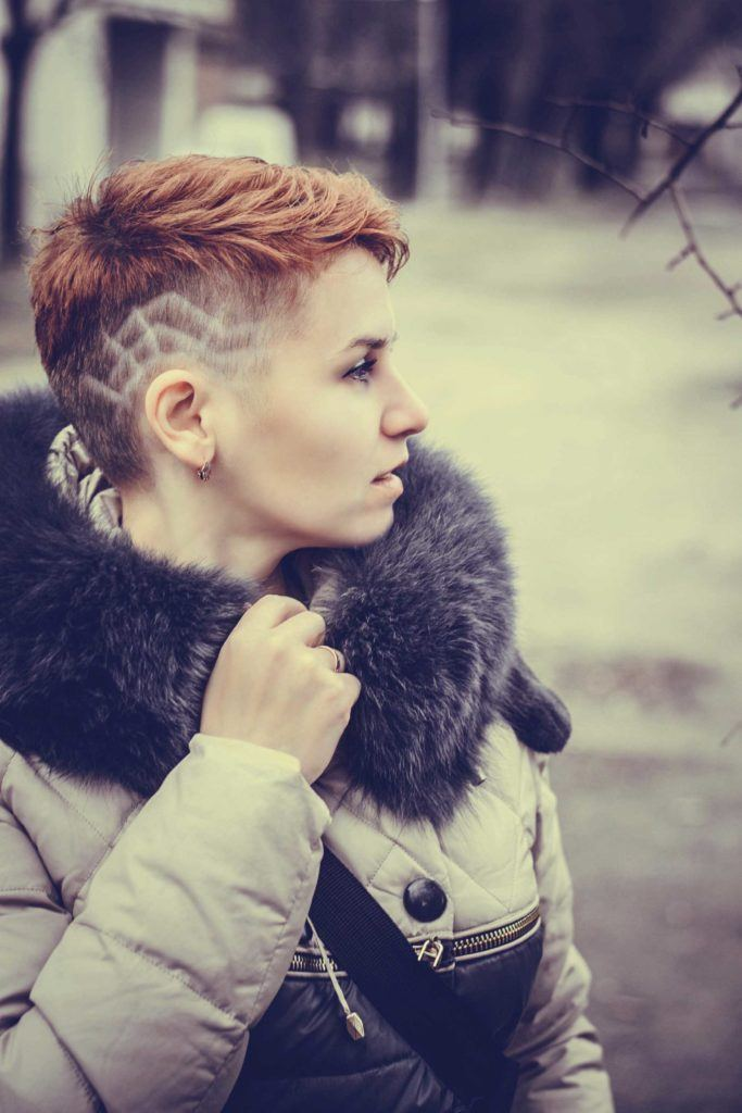 short haircut ideas with shaved sides