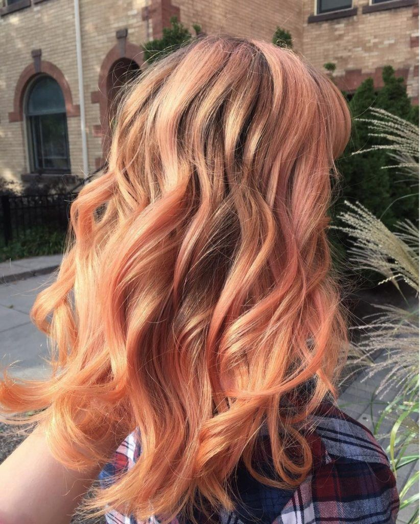 Blorange highlights are one of the best Spring Hair Color ideas