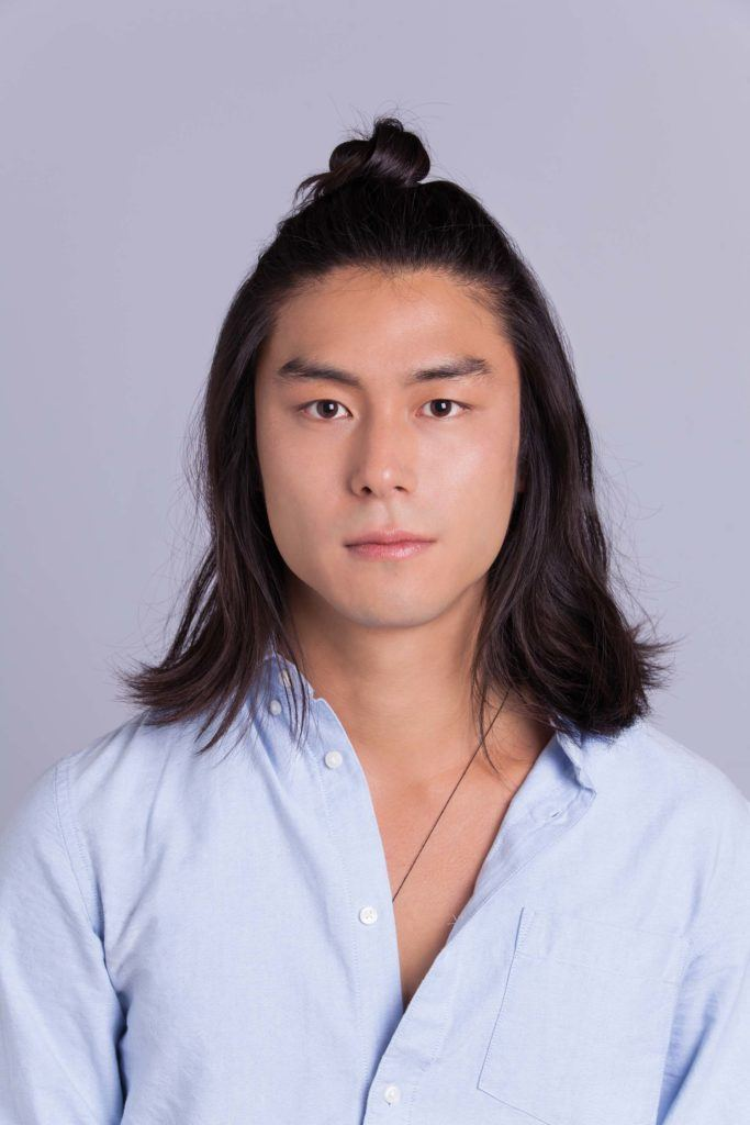 straight asian hair typs: half updo