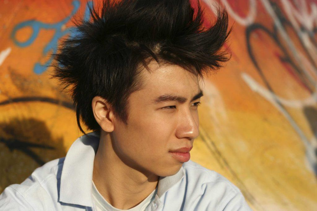 You can wear straight asian hair types many different ways. Funky Mohawk.