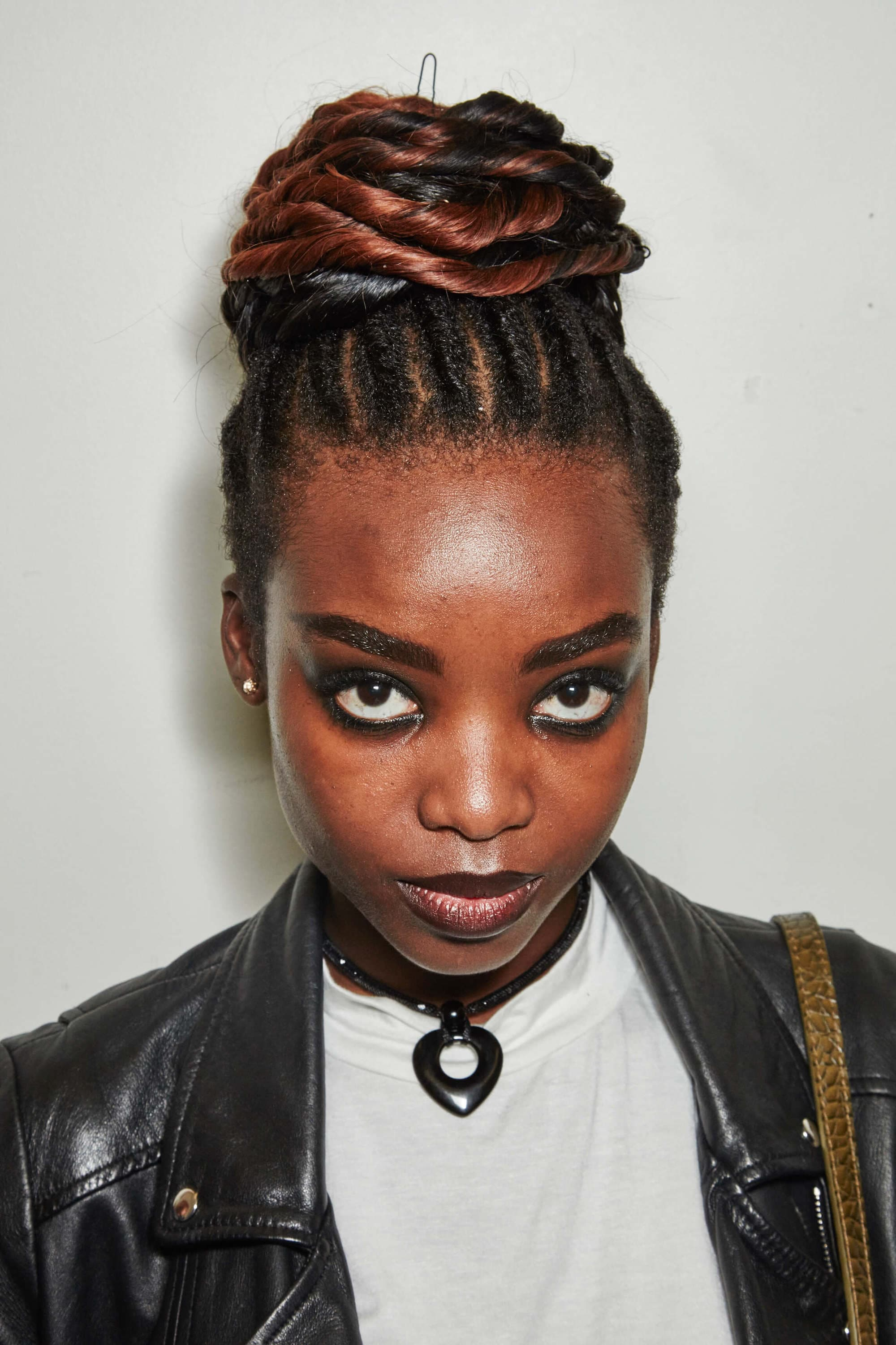 black braided hairstyles like cornrows