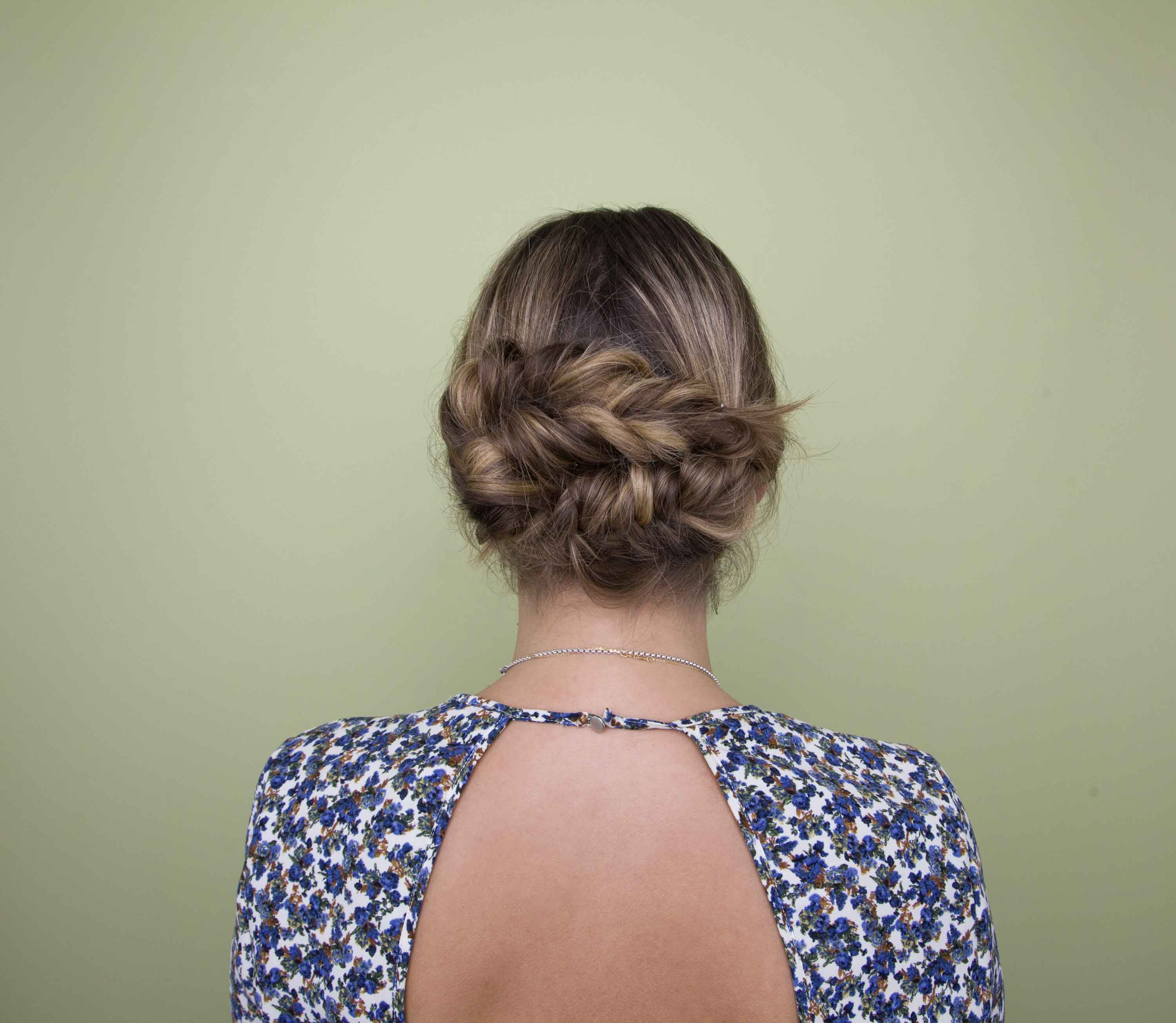 braid styles: low braided updo