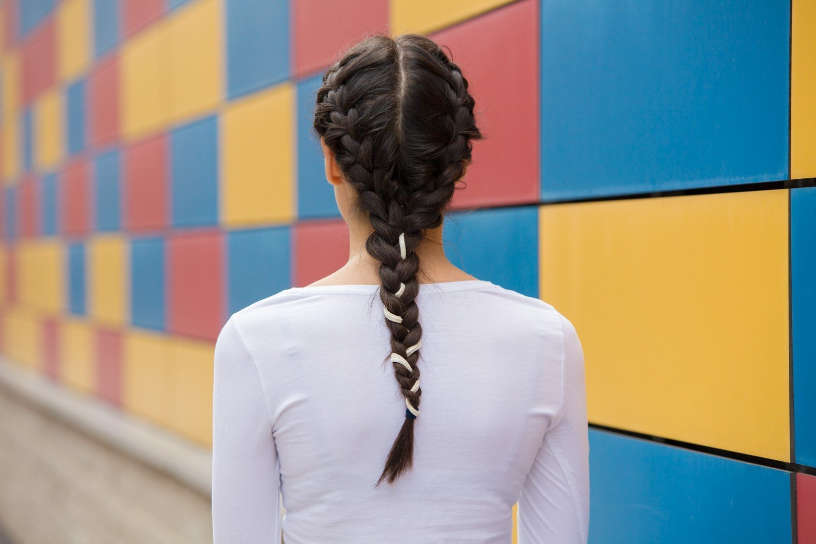 braid styles featuring double to a single braid