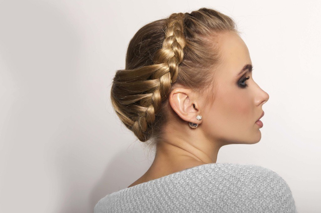 wedding braids in an updo
