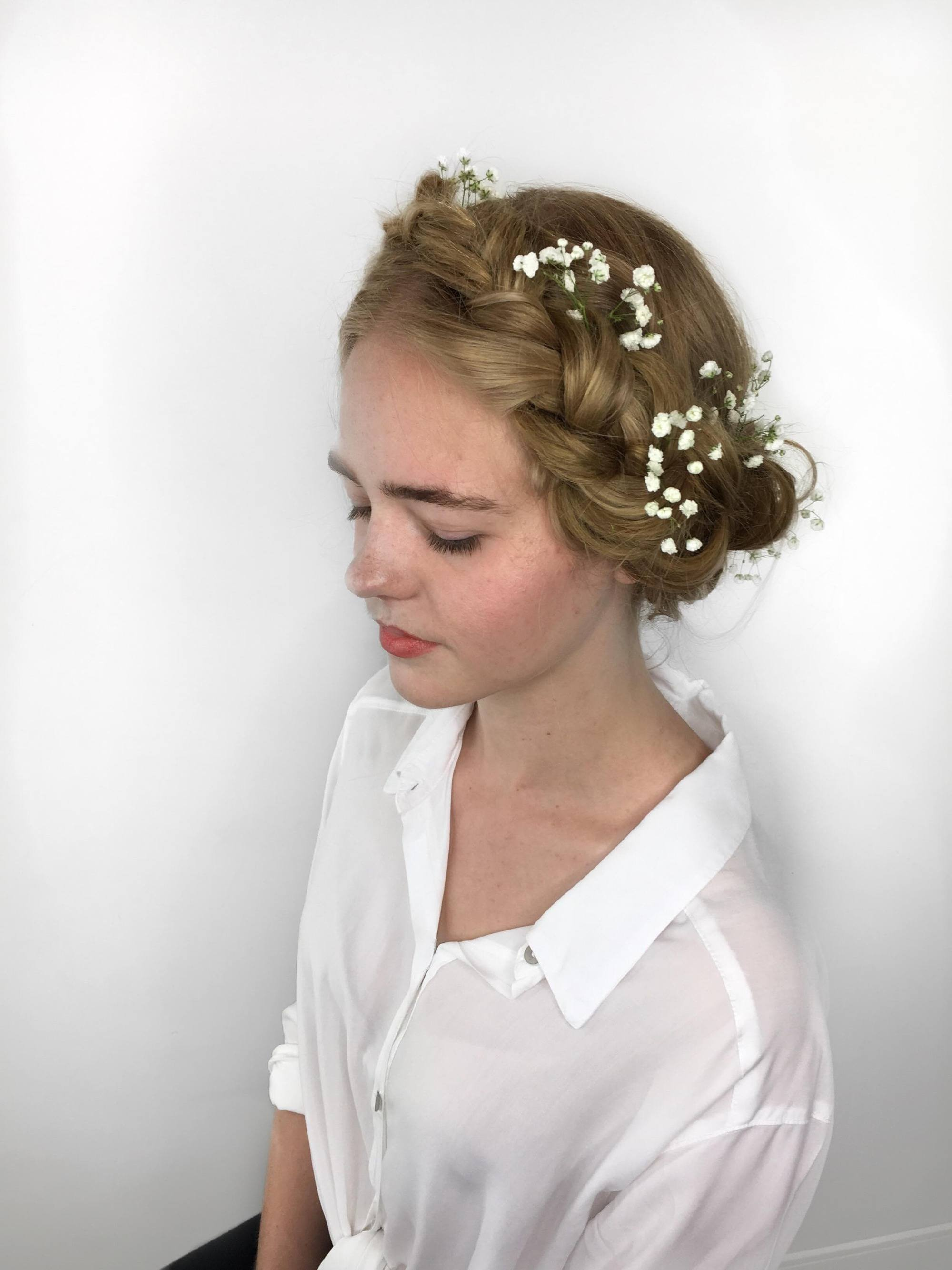 wedding braids: milkmaid braids