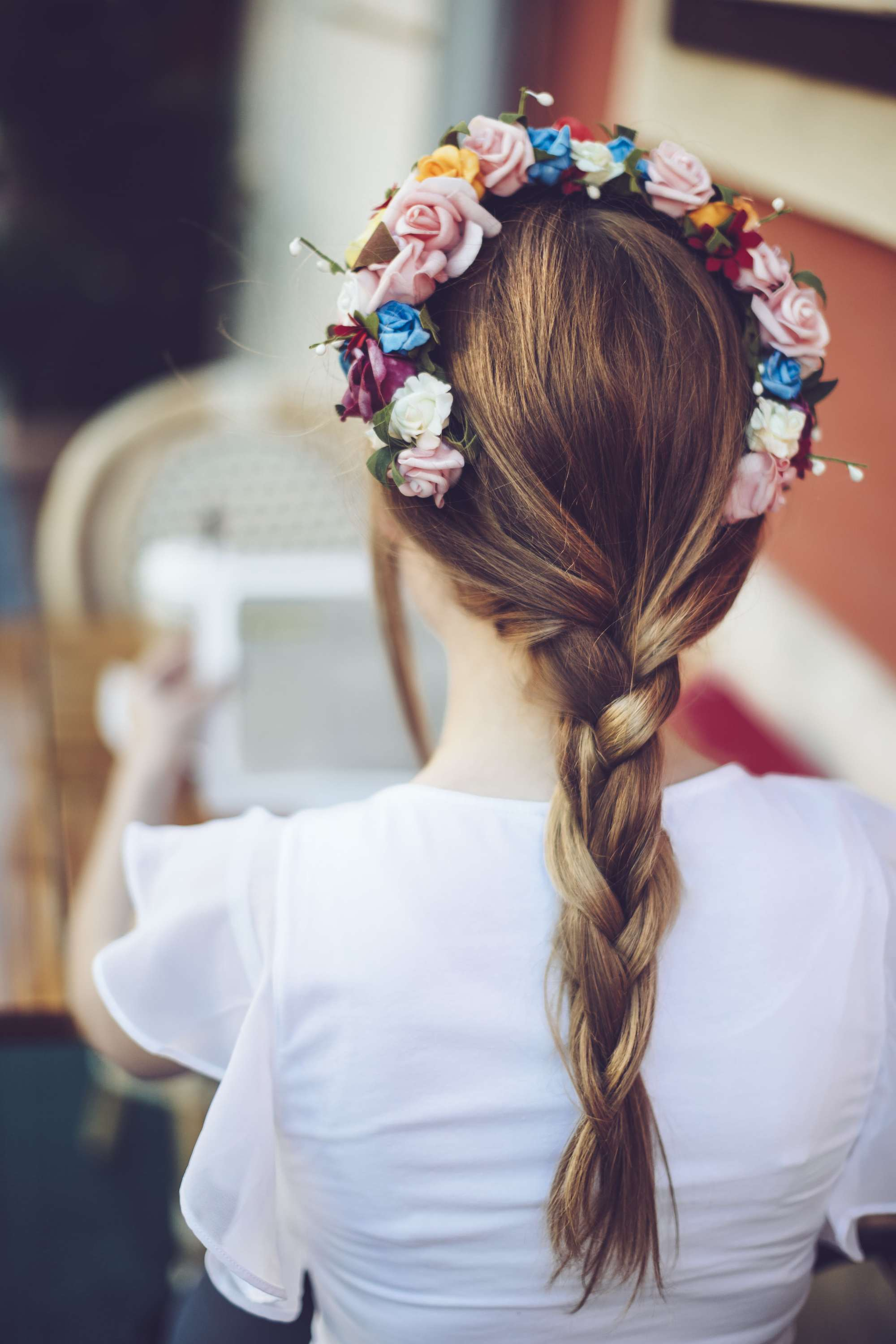 easy hair braiding styles flower crown blonde hair