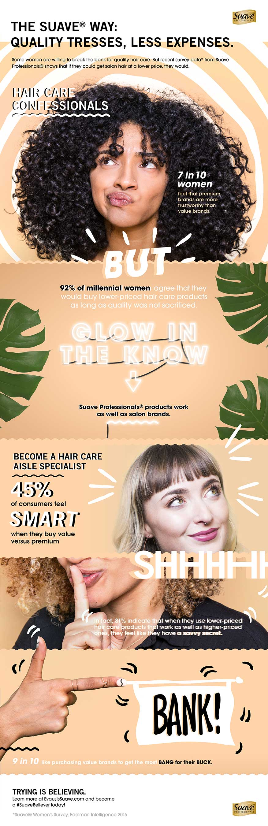 evaus infographic about quality hair care brands