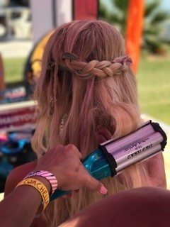 crimped festival hair braid