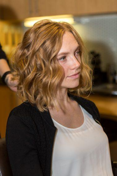 flat iron techniques for messy waves