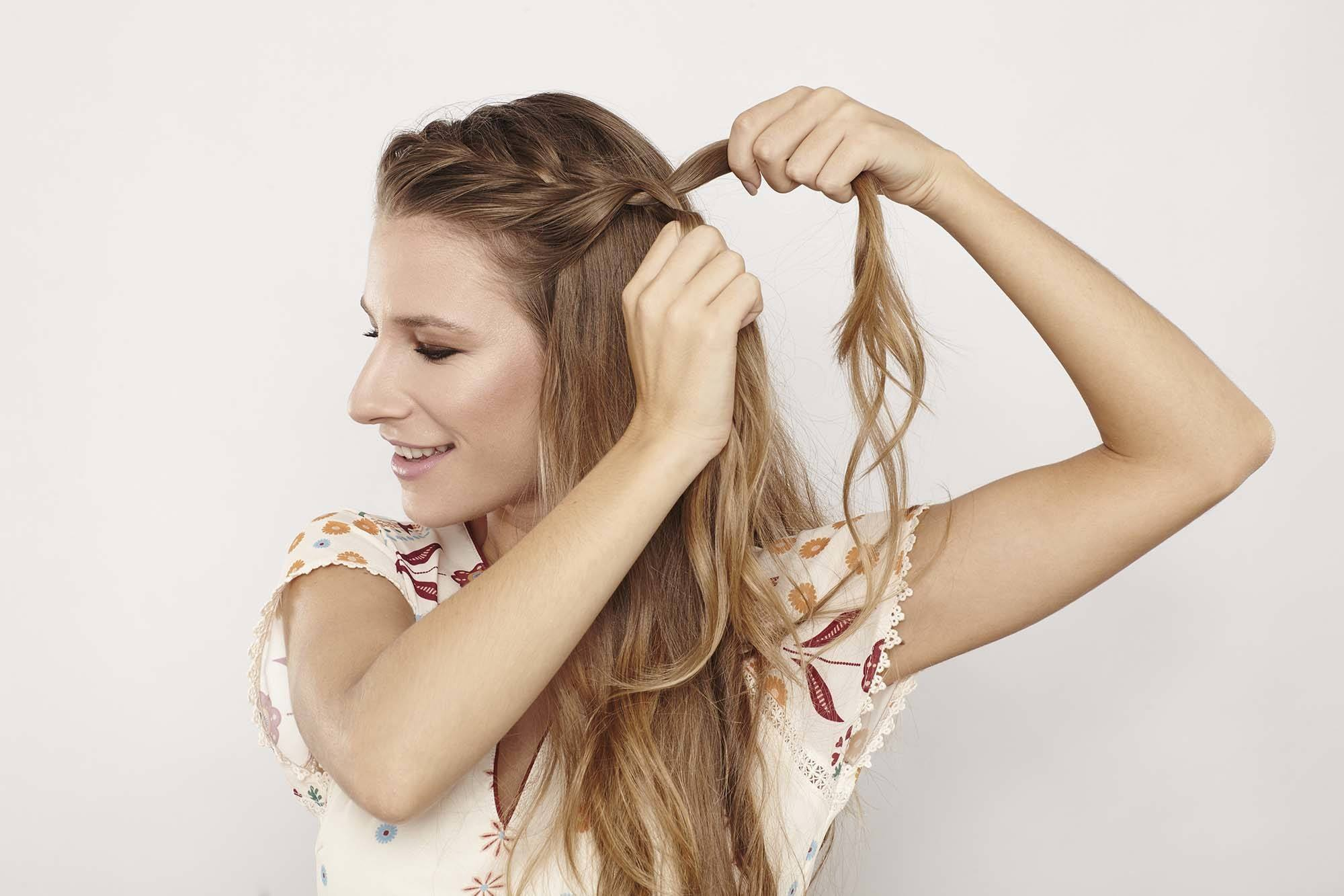 how to do a French braid from the hairline