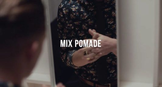 use some pomade to style undercut hair