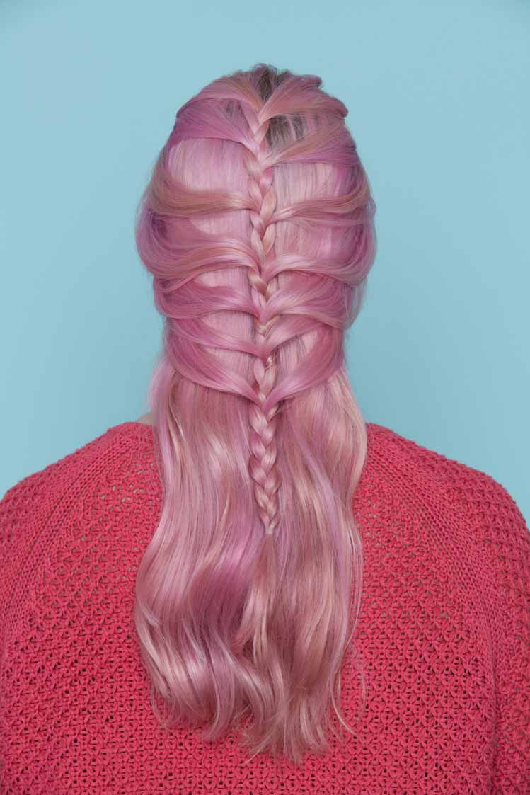 hair braiding: mermaid braid