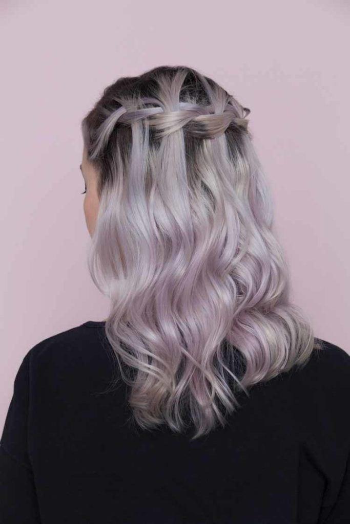 hair braiding: waterfall braid