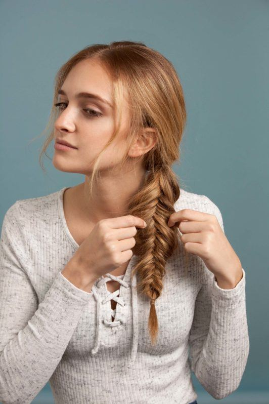 how to make an inverted fishtail braid: pancake your braid