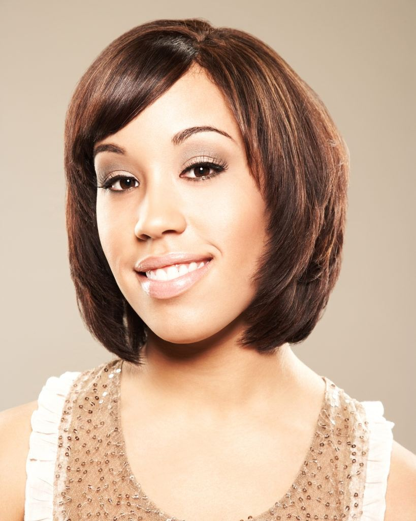 stacked short weave hairstyles