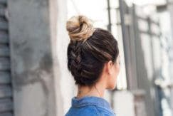 how to create an upside down braid on your hair