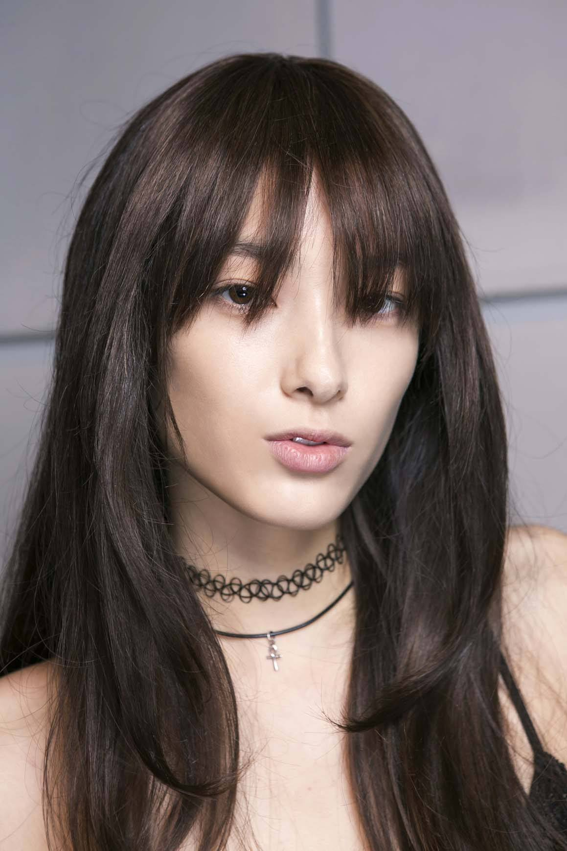 see-through bangs
