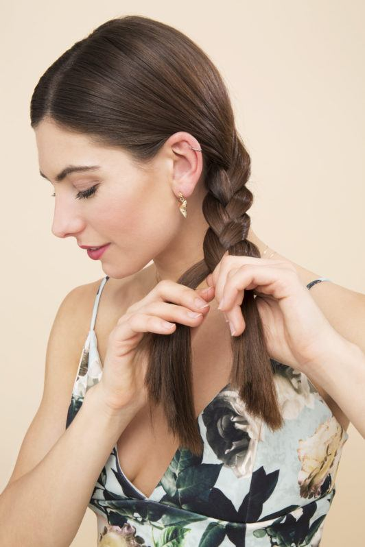 how to do a simple braid till the ends