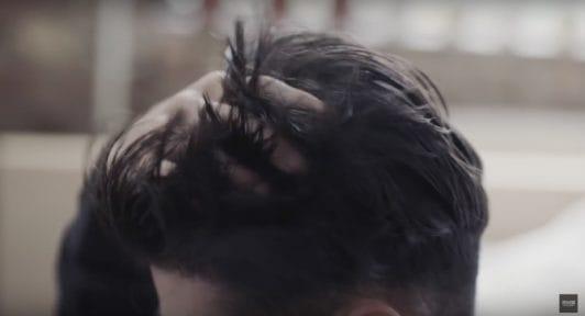 blow dry hair wash hair