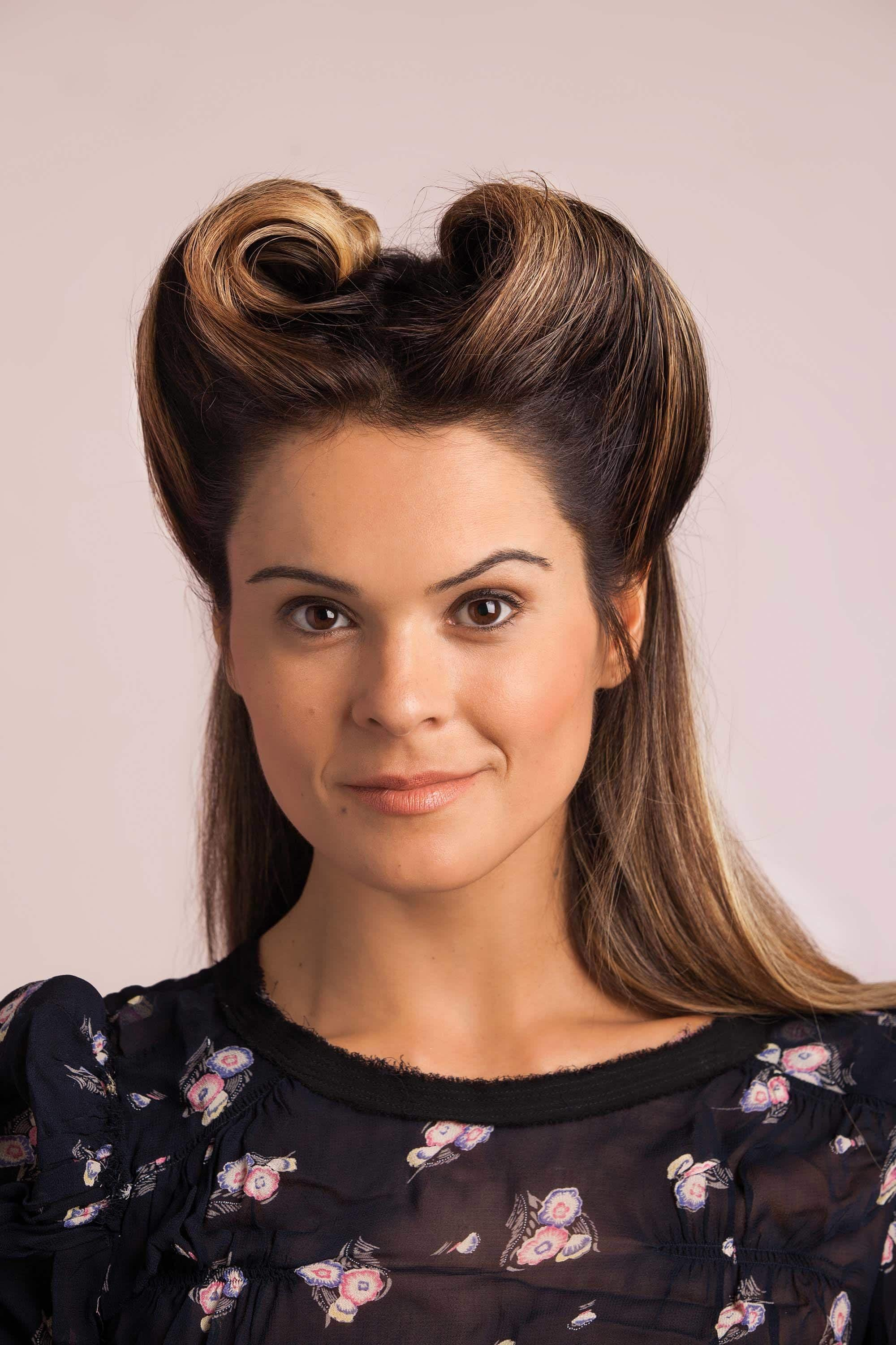 bobby pin hairstyles to create victory rolls