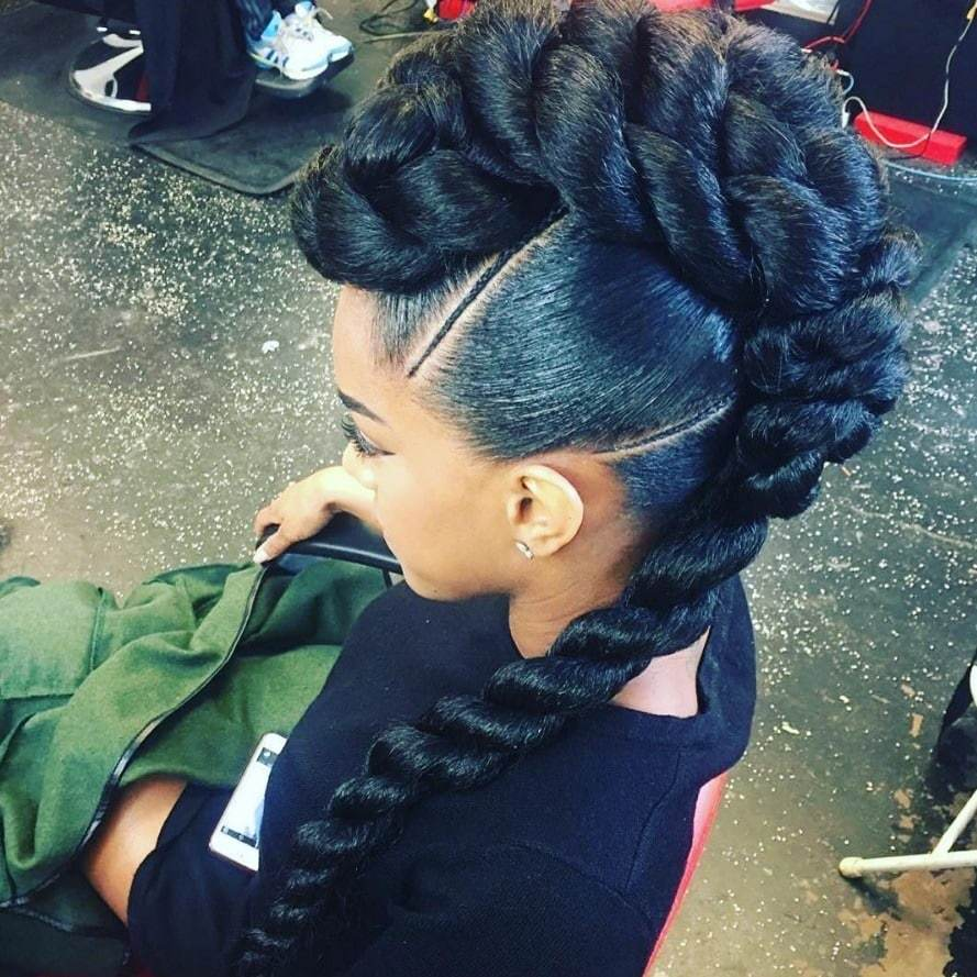 braided mohawk hairstyles edgy �dos for black hair